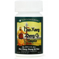 About Huo Xiang Zheng Qi Teapills  Huo Xiang Zheng Qi Wan Teapills drain dampness, regulate qi, harmonize the middle jiao, alleviate digestive issues, and release the exterior. Huo Xiang Zheng Qi Wan is referred to in the China Pharmacopoeia to help relieve sweating and dampness as well as regulate qi flow to promote digestion.