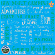 BSA Camping Words 12x12 paper