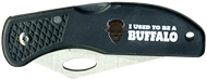 Wood Badge Buffalo Critter Head Lockback Knife