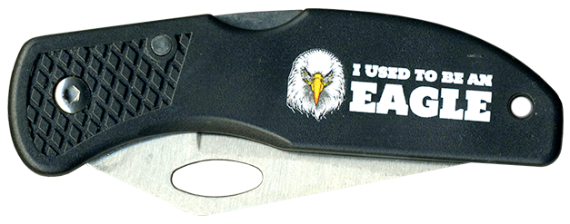 Wood Badge Eagle Critter Head Lockback Knife