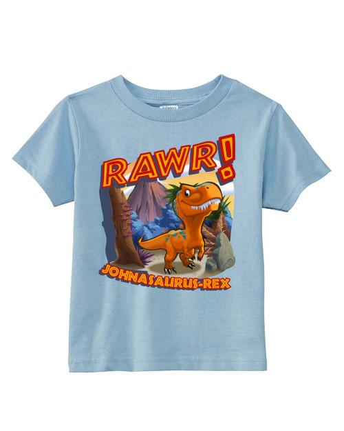 Johnasaurus Rawr Dinosaur Toddler Tee