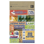 Boy Scout Winter Sports Embossed Stickers