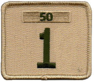 Single Number Boy Scout Troop Unit Numeral With Veterans Bar Patch