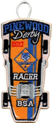 2017 Pinewood Derby Cub Scout Racer Patch
