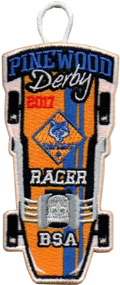 cub scouts pinewood derby and raingutter regatta event racer patches