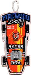2017 Pinewood Tiger Racer Patch
