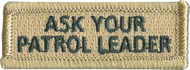 Ask Your Patrol Leader Rectangle Patch