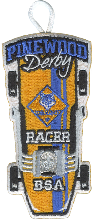 cub scout racer pinewood derby patch