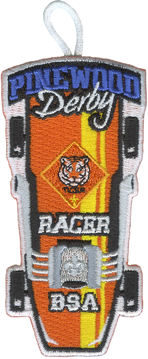 tiger cub scout racer pinewood derby patch