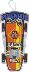 Pinewood Derby Tiger Racer Patch