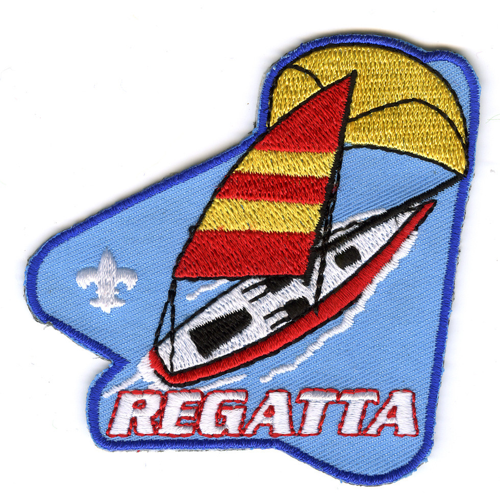 raingutter regatta sailboat cub scout event patch