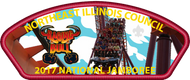 NEIC 2017 Jamboree Council Strip Patch - Raging Bull Roller Coaster