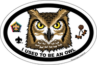 Wood Badge Owl Critter Oval Magnet