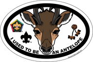 Wood Badge Antelope Critter Oval Magnet