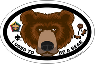 Wood Badge Bear Critter Oval Magnet