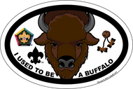 Wood Badge Buffalo Critter Oval Magnet