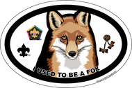 Wood Badge Fox Oval Magnet