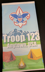 Custom Boy Scout Neck Gaiter - Lake Camping (SP6860)