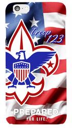 Waving American Flag Troop Phone Case SP6828
