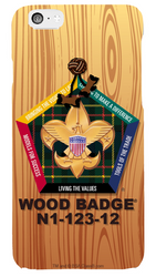 Woodgrain Wood Badge Phone Case SP6830