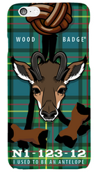 Wood Badge Antelope Critter Phone Case SP6831