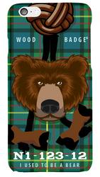 Wood Badge Bear Critter Phone Case SP6831