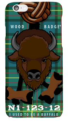 Wood Badge Buffalo Critter Phone Case SP6831