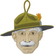 Baden Powell Head Patch