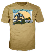 Custom Cyber Werewolves Troop Patrol T-Shirt (SP6906)