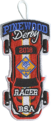2018 Pinewood Derby Cub Scout Racer Patch