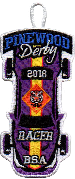 2018 Tiger Cub Scout Racer Patch