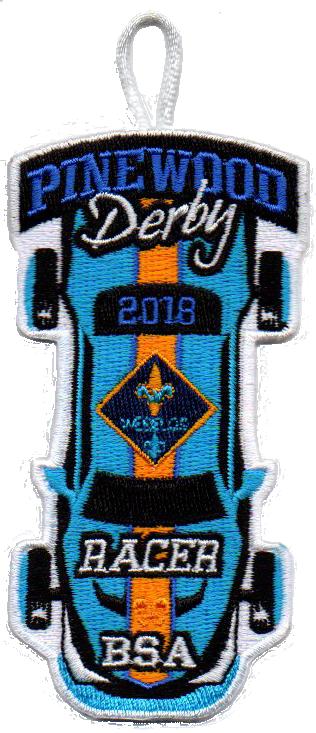 2018 Webelos Cub Scout Racer Patch