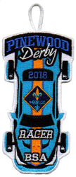 2018 Pinewood Derby Webelos Racer Patch