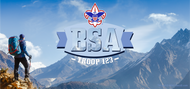 Boy Scout Troop Mountain Scene Water Bottle (SP6927)