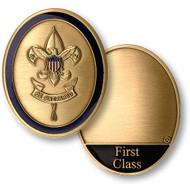 First Class Scout Rank Coin