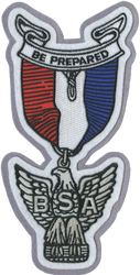 Eagle Medal Letterman Jacket Patch