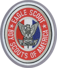 Eagle Badge Oval Letterman Jacket Patch