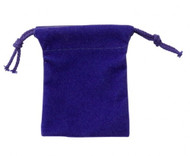 "Small 2 1/2"" x 3 1/2"" Velour Pouch - Blue"
