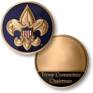 Boy Scout Troop Committee Chairman Coin