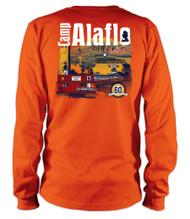 Orange 100% Cotton Long Sleeve Tee - Camp Alaflo 60th Anniversary 2018
