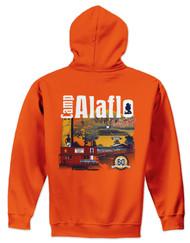 Orange 50/50 Hoodie Sweatshirt - Camp Alaflo  60th Anniversary 2018