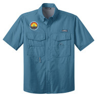 Eddie Bauer Short Sleeve Fishing Shirt -  Camp V-Bar