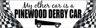 My other Car is a Pinewood Derby Car Bumper Sticker - (SP5288)