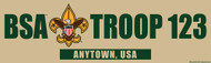 Custom Boy Scout Troop Khaki Bumper Sticker (SP5289)