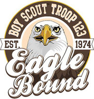 Custom Boy Scout Troop Eagle Bound Eagle Car Sticker (SP5431)