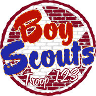 Custom Boy Scout Troop Brick Wall Car Sticker (SP5433)