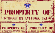 Custom Boy Scout Troop Property of Troop Car Sticker (SP5240)