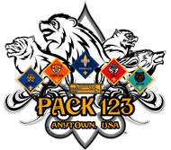 Custom Cub Scout Pack Ranks Car Sticker (SP5422)