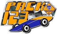 Custom Cub Scout Pack Pinewood Derby Car Sticker (SP5421)