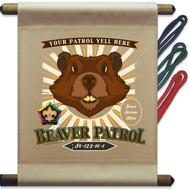 Custom Wood Badge Beaver Patrol Mini Flag - Sunray (SP DP5133)